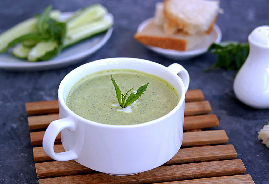 Green beans and mint puree