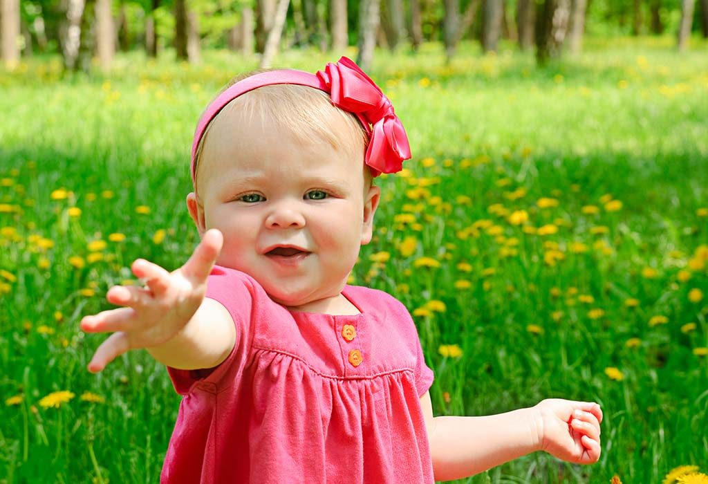 interact with your baby as much as you can so she can learn new words