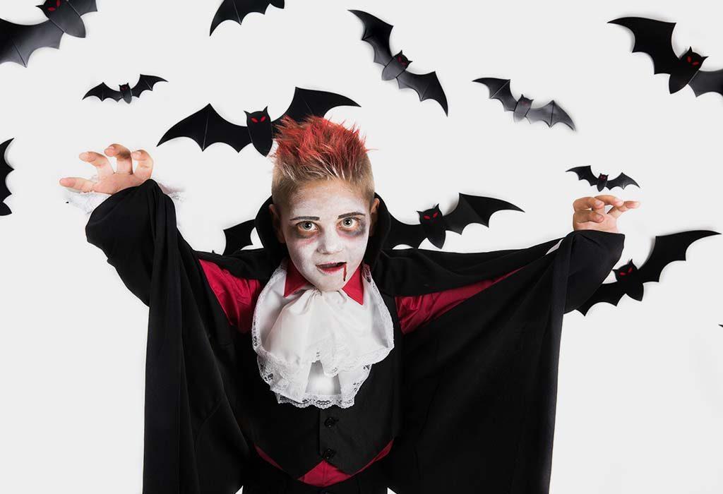 Bat Mask Halloween Makeup